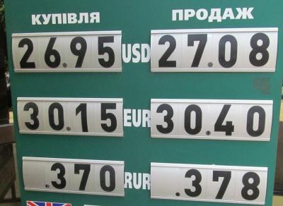 Курс валют у Чернівцях на 13 липня
