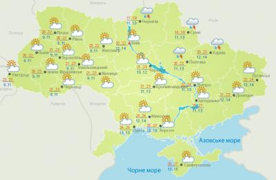 Погода на Буковині 15 липня