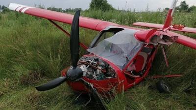 У Коломиї аварійно приземлився легкомоторний літак