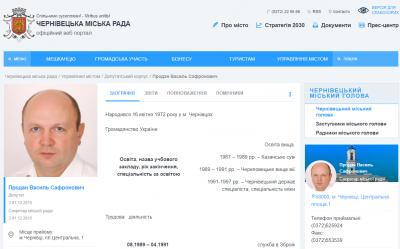 На сайті Чернівецької міськради прибрали всю інформацію про Каспрука