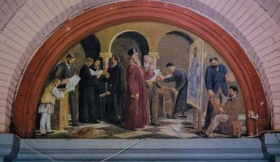 У Чернівцях в центральному корпусі ЧНУ знайшли унікальну фреску – фото