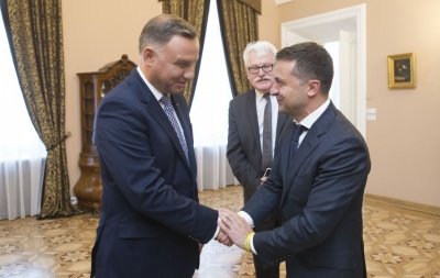 Візит Дуди до України: Зеленський просить відновити поховання УПА
