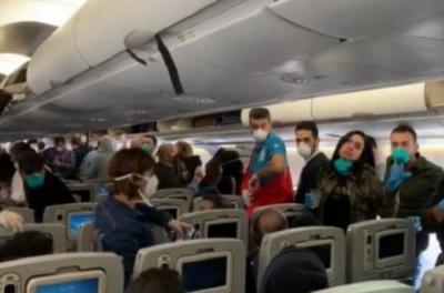 Чоловіка з дружиною зняли з рейсу Київ-Анталія за відмову надіти маску
