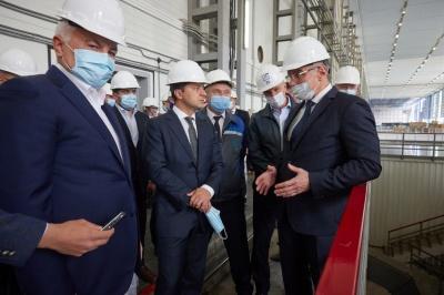 Президент проінспектував будівництво на Дністровській ГАЕС
