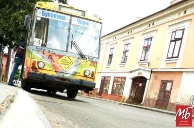 У Чернівцях сьогодні не курсуватиме тролейбус №2