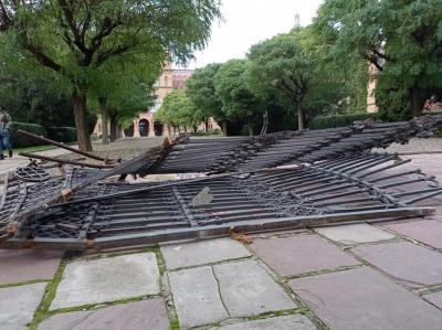 У Чернівецькому університеті встановили нові тимчасові ворота