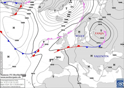 Циклон Tanja принесе дощ та мокрий сніг. Синоптики зробили прогноз на вихідні