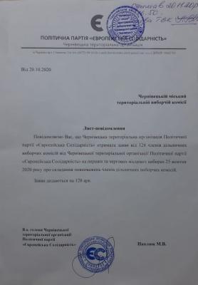 «Зробили все завчасно»: у партіях прокоментували ситуацію з відкликанням понад 400 членів ДВК у Чернівцях