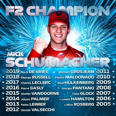 Син Шумахера став чемпіоном Формули-2
