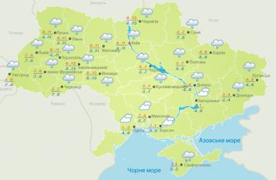 Погода на Буковині 15 січня