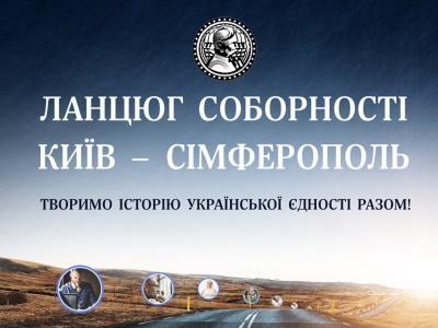Перший в історії «Ланцюг Соборності» онлайн: Творимо історію України разом!*