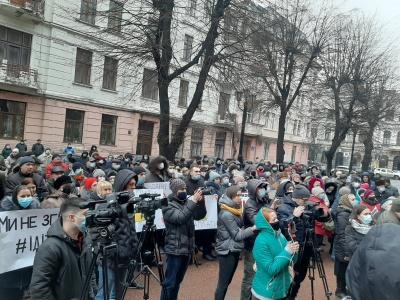 Пікет під ОДА: що вимагають протестувальники – фото, відео