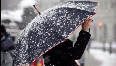 """В Україну """"суне"""" циклон із снігопадами та дощами"""