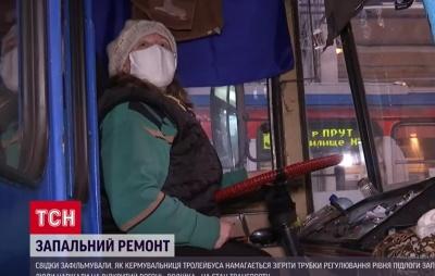 «Жодної небезпеки»: водійка, яка вогнем розігрівала тролейбус в Чернівцях, пояснила свій вчинок
