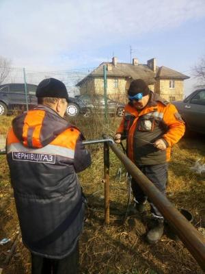 «Чернівцігаз» повністю відновив газопостачання в Оршівцях та П'ядиківцях