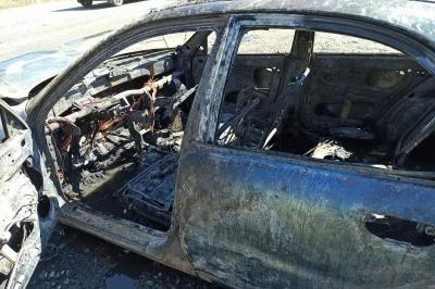 У Чернівцях повністю згоріло ще одне  авто – цього разу «Daewoo Lanos»