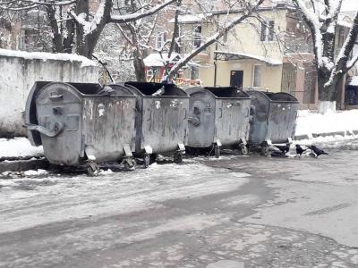 У Чернівцях через сніг можуть виникнути проблеми із вивезенням сміття