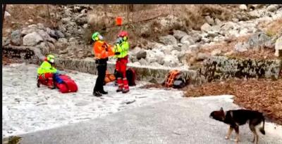 У горах пес допоміг вижити чоловікові, який сім днів пролежав з переломом ноги