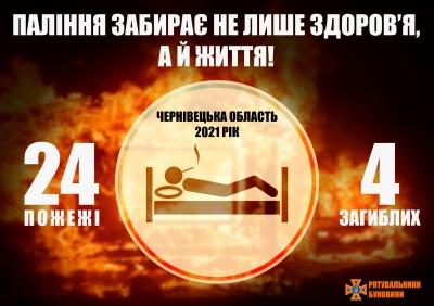 На Буковині цього року у пожежах через куріння загинули 4 осіб