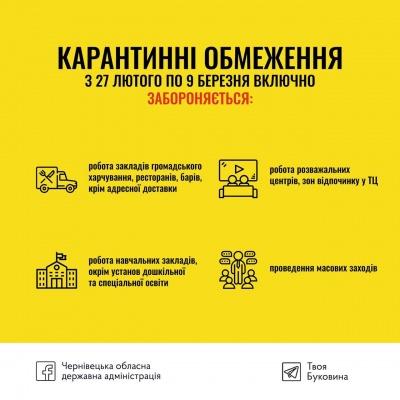 Доставка їжі, автоконцерти і зйомки фільмів: що буде дозволено на Буковині під час карантину