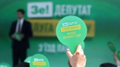 Партію «Слуга народу» позбавили держфінансування – НАЗК