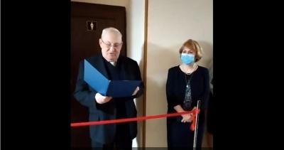 У київському університеті до 8 березня з пафосом відкрили жіночий туалет