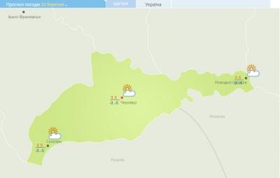 Без опадів, але ще холодно: якою буде погода на Буковині на вихідних