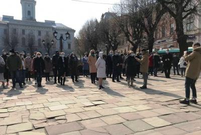 Пікет «Слуги народу» в Чернівцях: активісти записали відеозвернення до Зеленського
