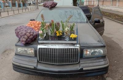 «Справжня розкіш»: у Чернівцях картоплю та цибулю продають із лімузина – курйозні фото