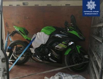 На Буковині поліцейські виявили мотоцикл, який викрали в Німеччині