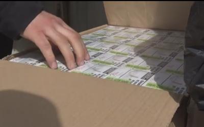 Зберігали у контейнері: на Калинівському ринку у Чернівцях виявили контрабандні сигарети - відео