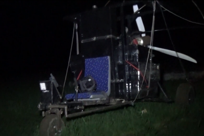 Хотіли перелетіти з цигарками через кордон: на Буковині прикордонники затримали літальний апарат - відео