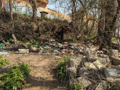 """Порожні пляшки, шприци та """"зарослі"""": у центрі Чернівців розвели смітник - фото"""