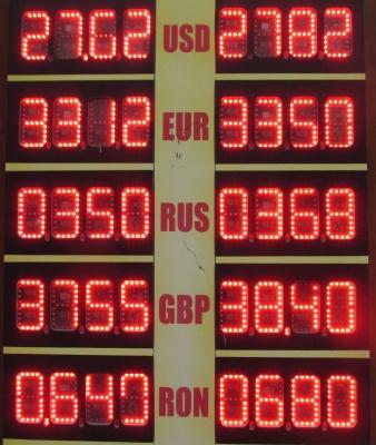Курс валют у Чернівцях на 27 квітня