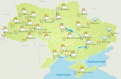 Погода на Буковині 9 травня