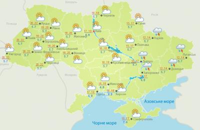 Погода на Буковині 10 травня
