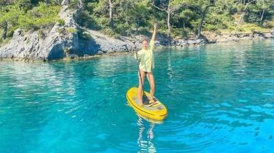 Вагітна Катя Осадча показала ранкові розваги у Туреччині