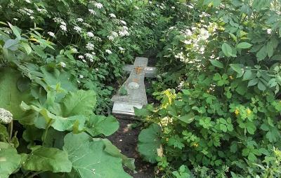 «Руки повідривати!»: невідомі викинули надгробний хрест у зарослях біля будинків у Чернівцях